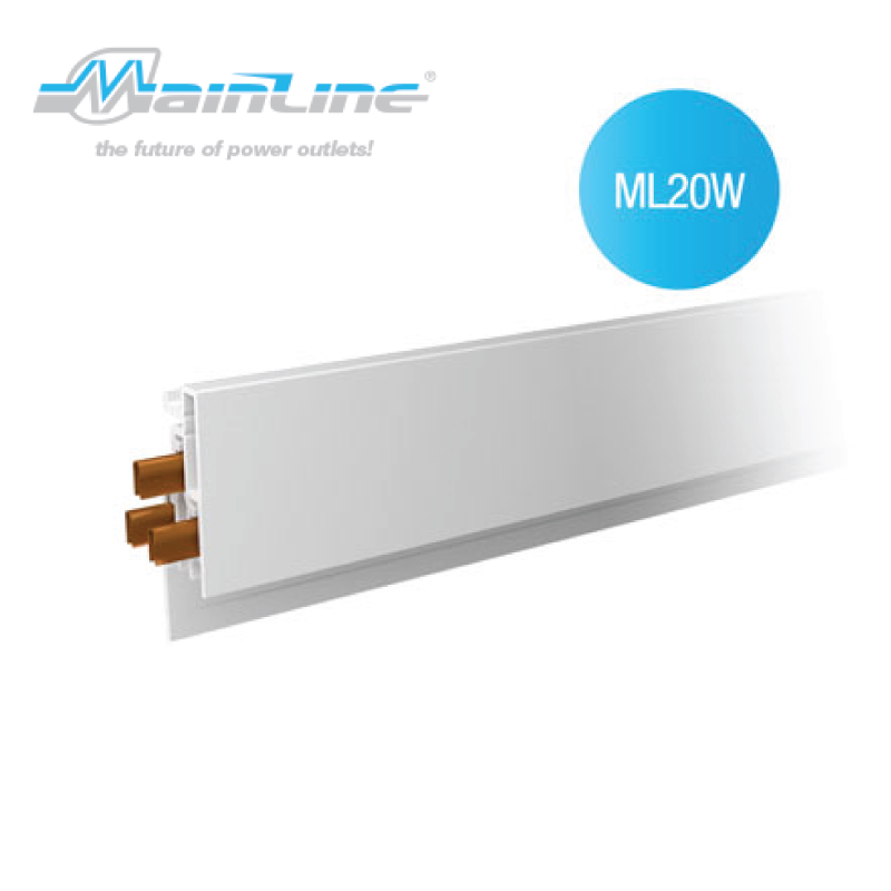 1 x 2mtr Mainline Power Track White