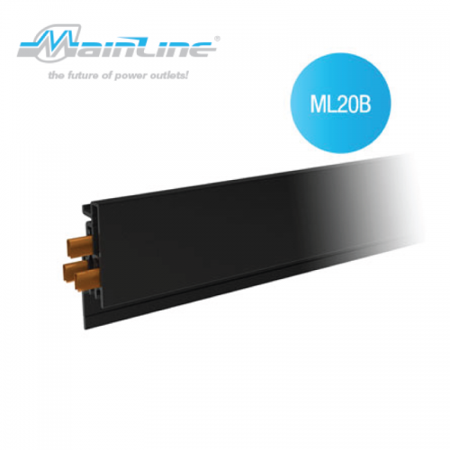 1 x 2mtr Mainline Power Track Black