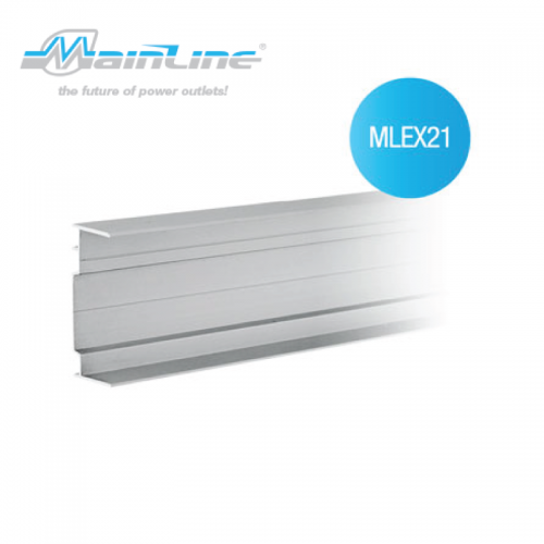 1 x 2mtr Mainline Aluminium Channel Natural Anodised