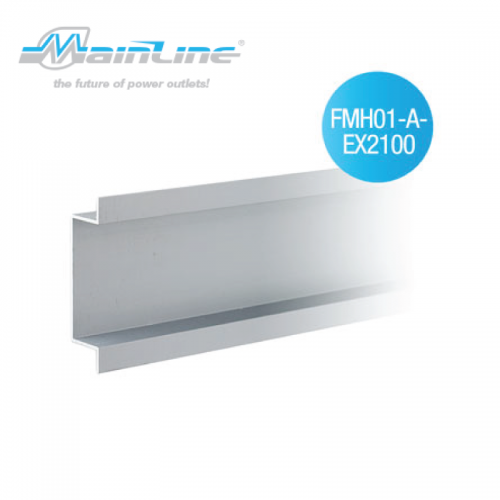 1 x 2mtr Mainline Flush Mount Channel Natural Anodised