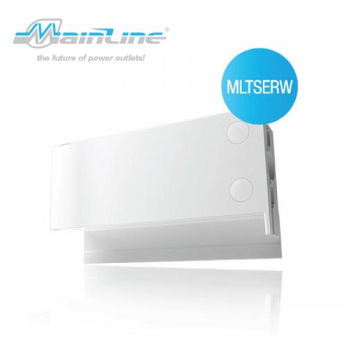 1 x Mainline TS R/H End Cap White