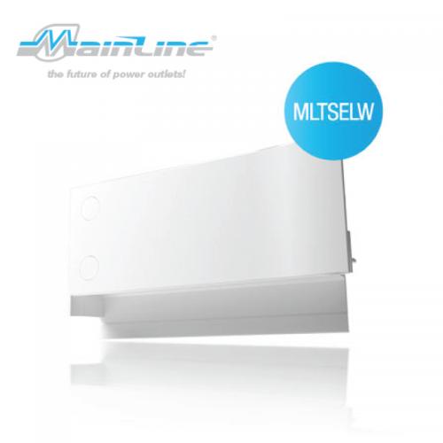1 x Mainline TS L/H End Cap White