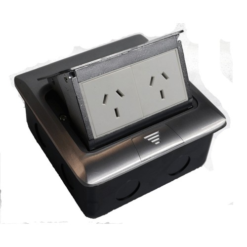 Pop Up Outlet Box 2 x Power