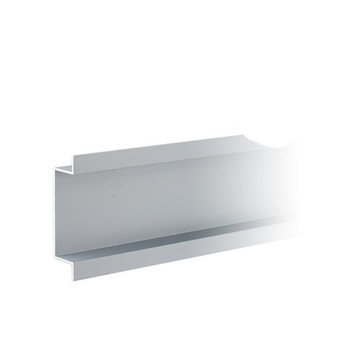 1 x 2mtr Mainline Flush Mount Aluminium Channel Natural Anodised