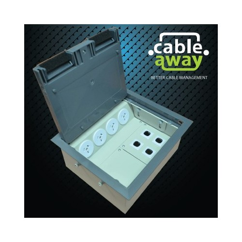 4 Power Plastic Lid  Floor Outlet Box