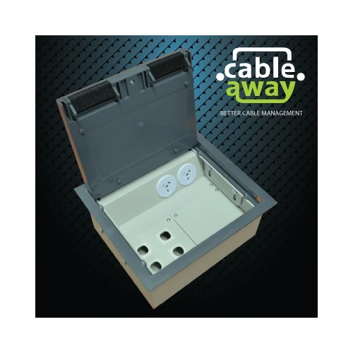 2 Power Plastic Lid Floor Outlet Box