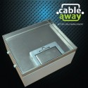 2 Power Stainless Steel 19mm Recessed Lid  Floor Outlet Box