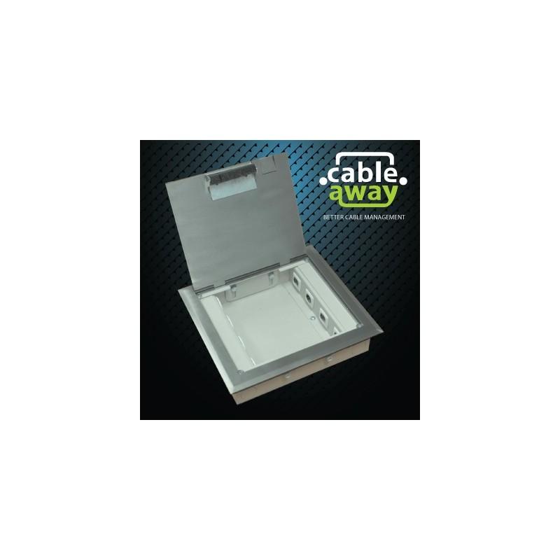 4 Power Shallow Stainless Steel Flush Floor Outlet Box