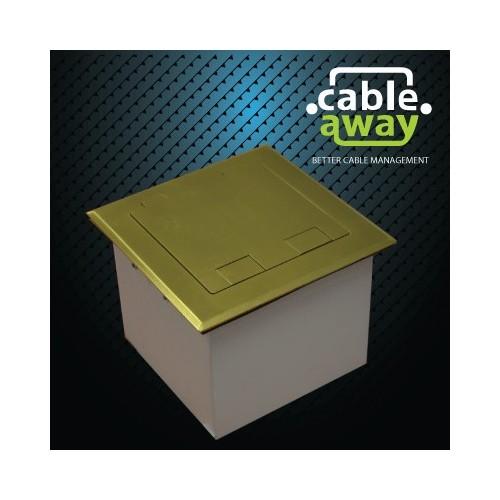 Floor Outlet Box 1 Standard GPO Brass Flush 145 Series