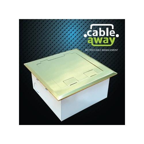 Floor Outlet Box 2 Power Brass Flush 145 Series