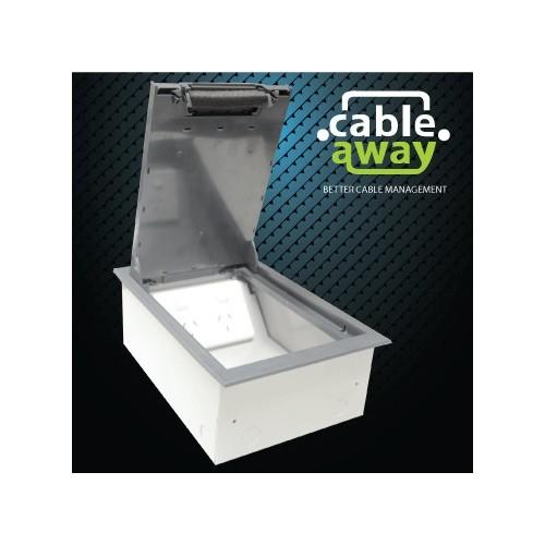 2 Power Standard Outlet Plastic Lid Floor Outlet Box