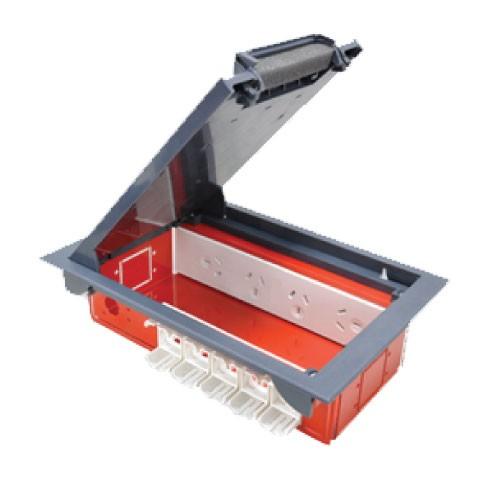 Cardinal Floor Outlet Box 2 x Starter Sockets