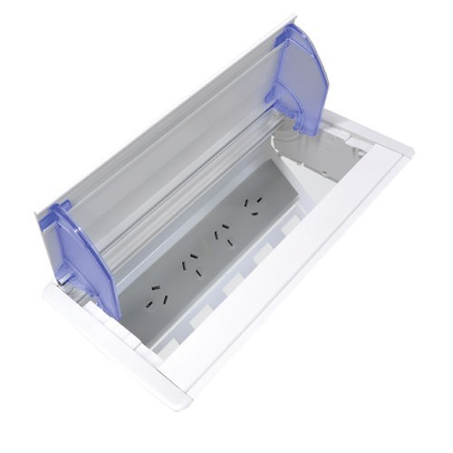 Axxess  In Desk Table Box (Anodised Finish)