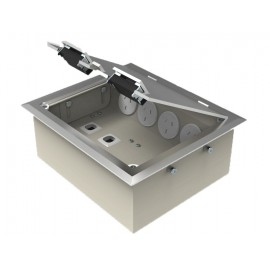 Stainless Steel Flush Lid Floor Outlet Boxes