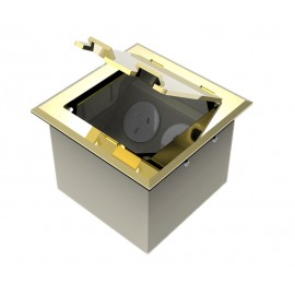 Brass Flush Lid Floor Outlet Boxes